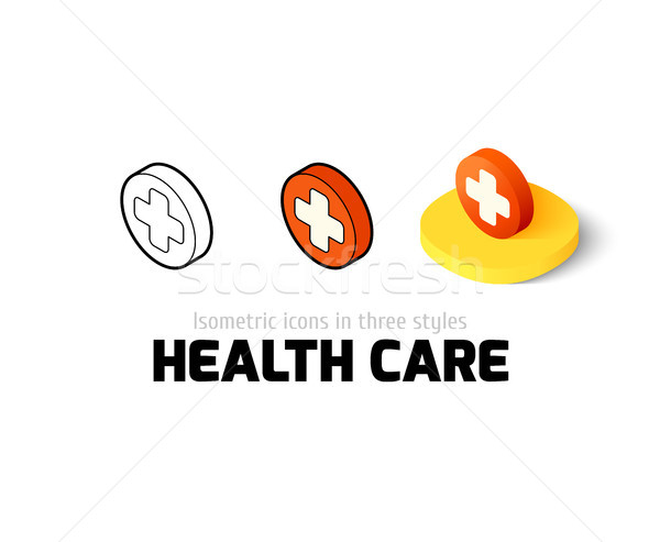 Stock photo: Health care icon in different style