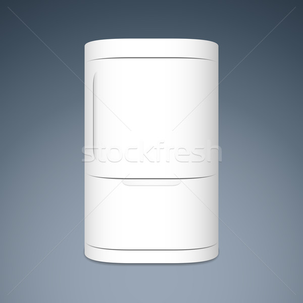 Modern closed white two door refrigerator Stock photo © sidmay