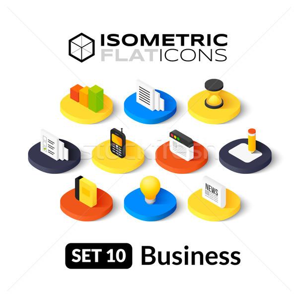Isometric flat icons set 10 Stock photo © sidmay