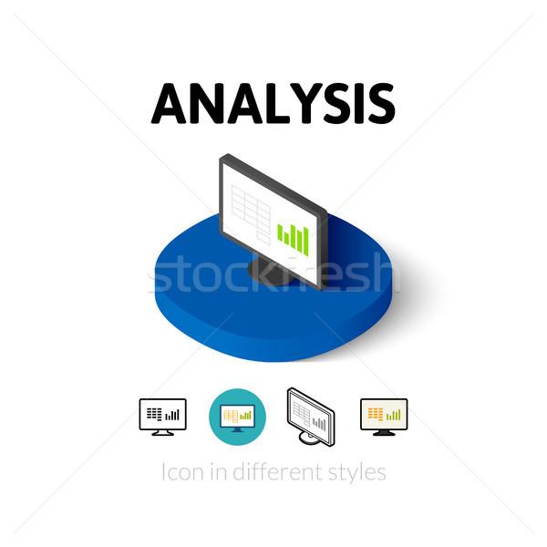 Análisis icono diferente estilo vector símbolo Foto stock © sidmay