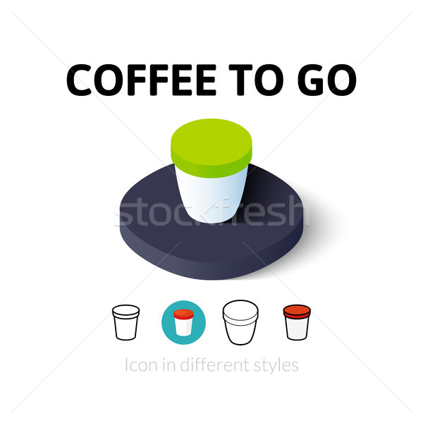 Coffee to Go icon in different style Stock photo © sidmay