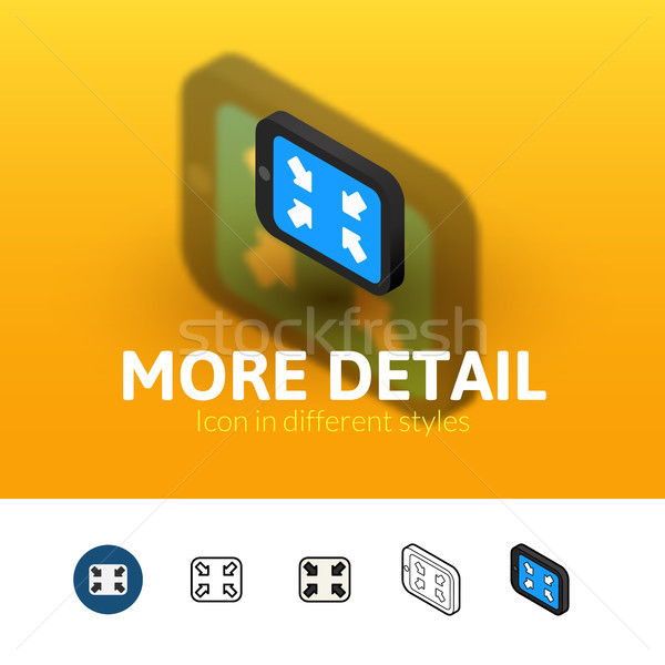 More detail icon in different style Stock photo © sidmay