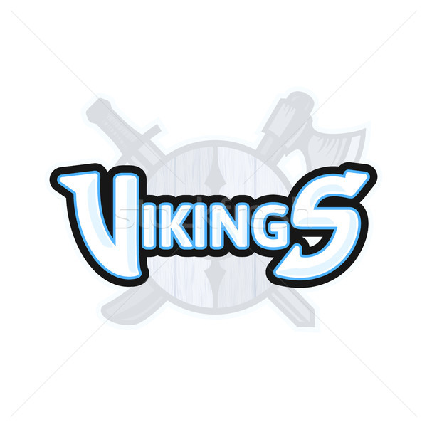 Vikings sport logo, vector emblem Stock photo © sidmay
