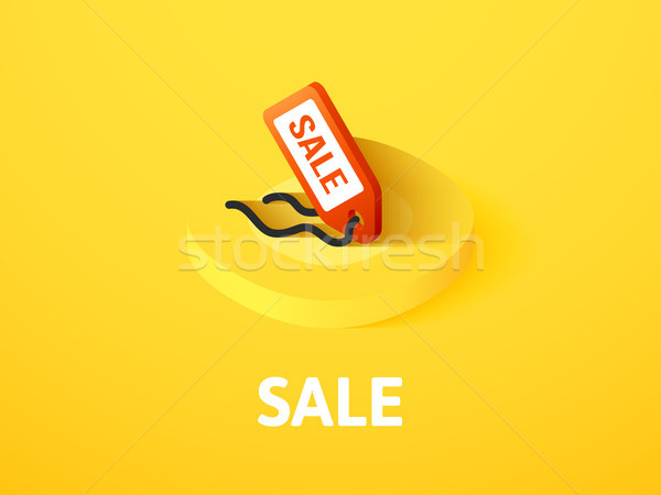 Sale isometric icon, isolated on color background Stock photo © sidmay