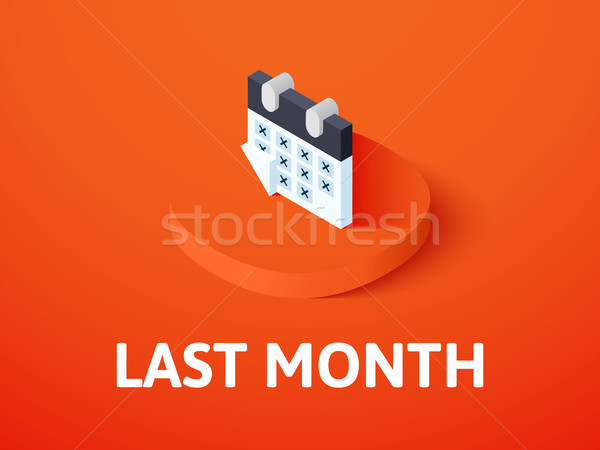 Last month isometric icon, isolated on color background Stock photo © sidmay