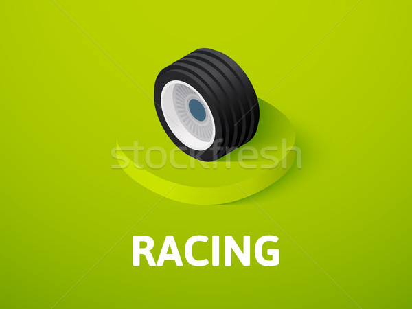 Foto stock: Carreras · icono · aislado · color · vector