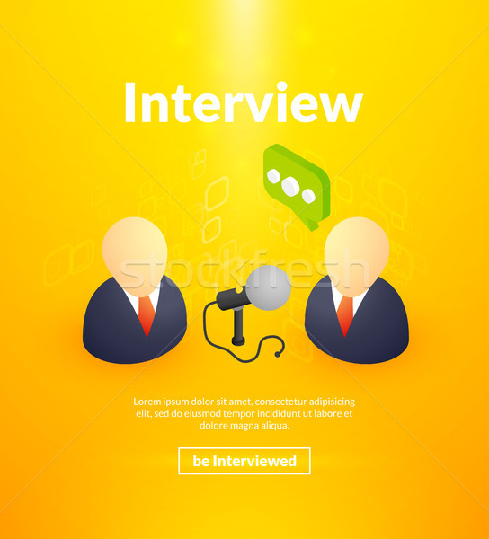 Interview poster of isometric color design Stock photo © sidmay