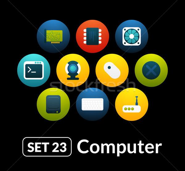アイコン ベクトル セット コンピュータ コレクション 電話 ストックフォト © sidmay
