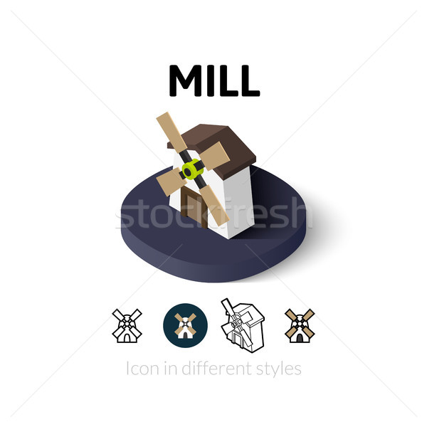Mill icon in different style Stock photo © sidmay