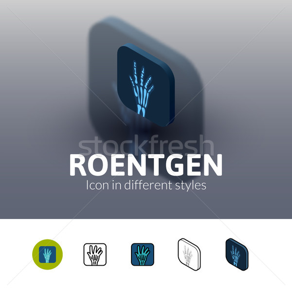 Roentgen icon in different style Stock photo © sidmay