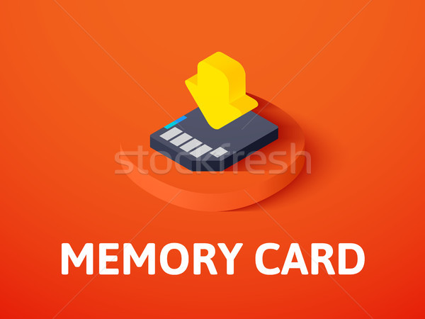 Memory card isometric icon, isolated on color background Stock photo © sidmay
