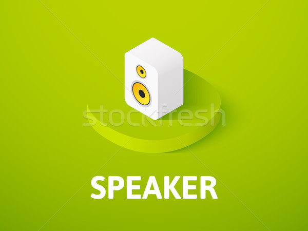 Speaker isometric icon, isolated on color background Stock photo © sidmay