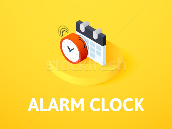 Alarm clock isometric icon, isolated on color background Stock photo © sidmay