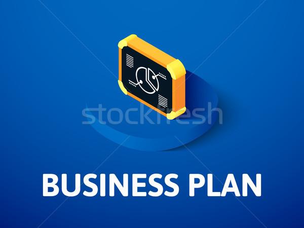 Negocios plan icono aislado color Foto stock © sidmay