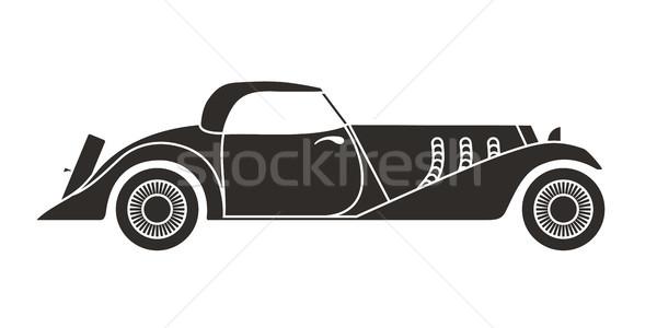 レトロな 二輪馬車 スポーツ 車 ヴィンテージ コレクション ストックフォト © sidmay
