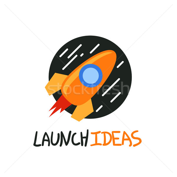 Começar para cima foguete logotipo vetor símbolo Foto stock © sidmay