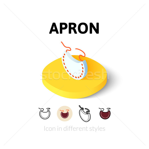 Apron icon in different style Stock photo © sidmay