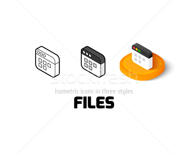 Files icon in different style Stock photo © sidmay