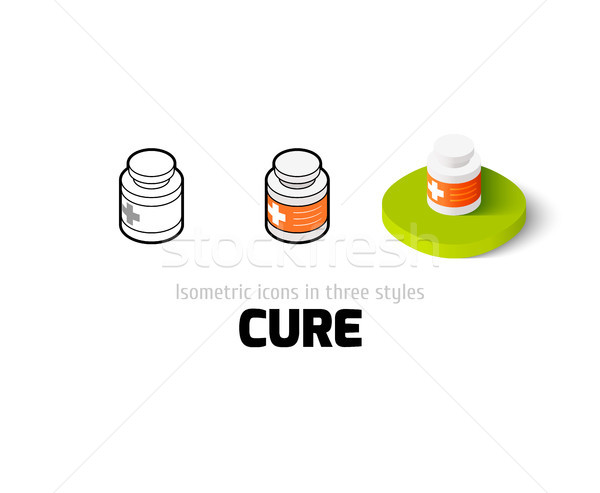Cure icon in different style Stock photo © sidmay