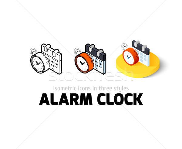 Alarm clock icon in different style Stock photo © sidmay