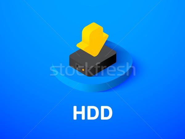 Hdd izometrikus ikon izolált szín vektor Stock fotó © sidmay
