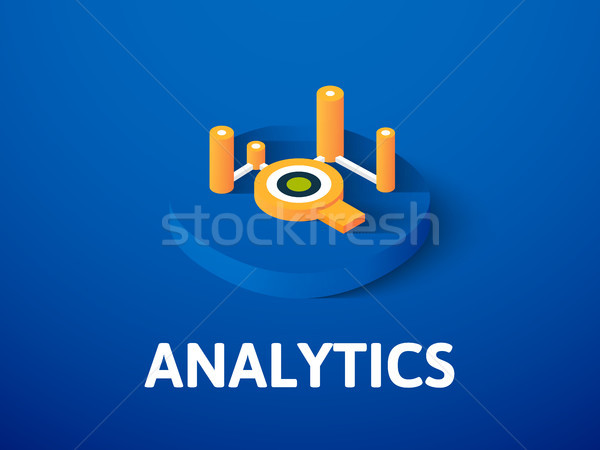 Analytics isometric icon, isolated on color background Stock photo © sidmay