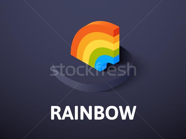Arco-íris isométrica ícone isolado cor vetor Foto stock © sidmay