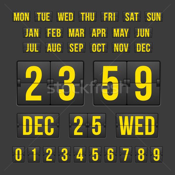 Geriye sayım saat tarih takvim sayı tahtası vektör Stok fotoğraf © sidmay