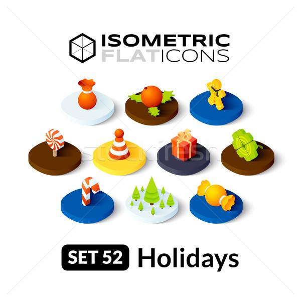 Isometrische iconen 3D pictogrammen vector Stockfoto © sidmay
