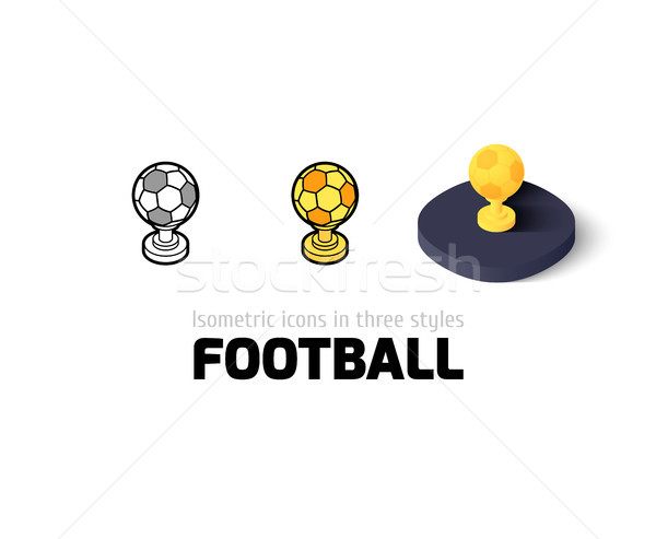 Fútbol icono diferente estilo vector símbolo Foto stock © sidmay