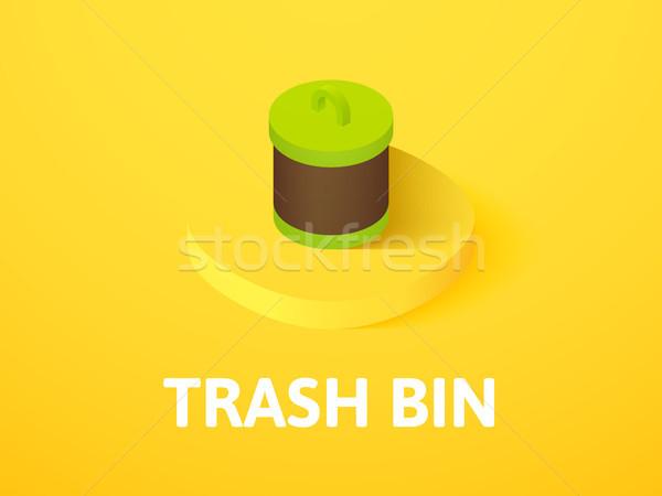 мусор изометрический икона изолированный цвета Сток-фото © sidmay