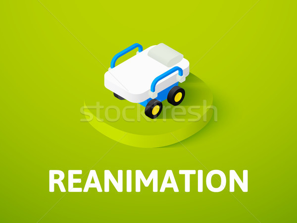 Reanimation isometric icon, isolated on color background Stock photo © sidmay