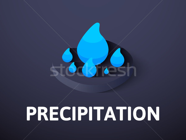 Precipitation isometric icon, isolated on color background Stock photo © sidmay