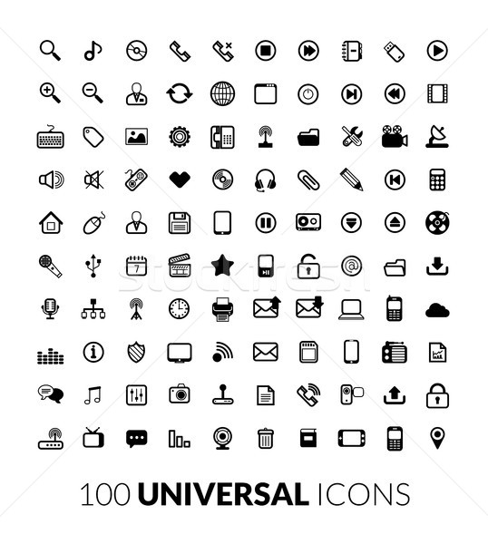 25 vector icons Stock photo © sidmay