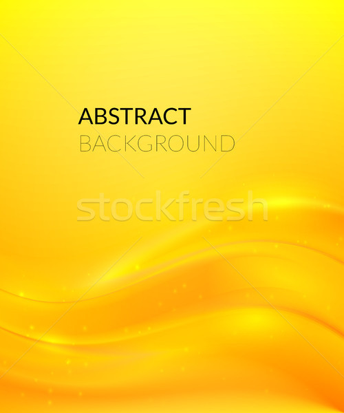 Abstract yellow background with smooth lines Stock photo © sidmay