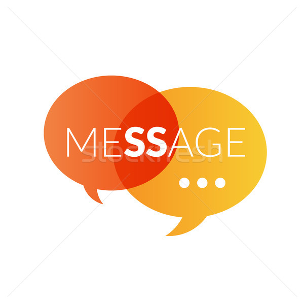 Logo sms posta vektör ikon Stok fotoğraf © sidmay