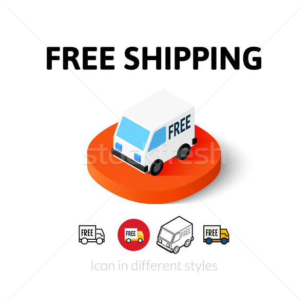 Free shipping icon in different style Stock photo © sidmay