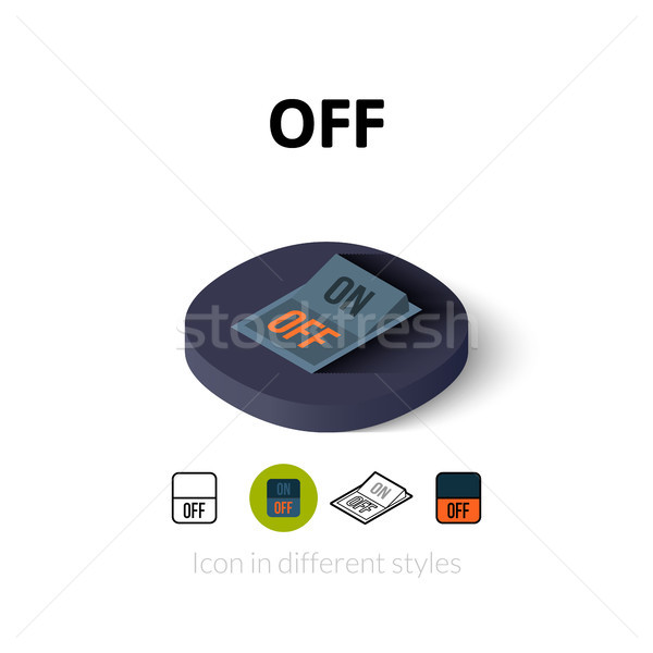 Off icon in different style Stock photo © sidmay