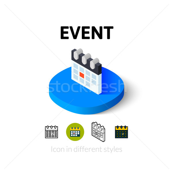 Event icon in different style Stock photo © sidmay