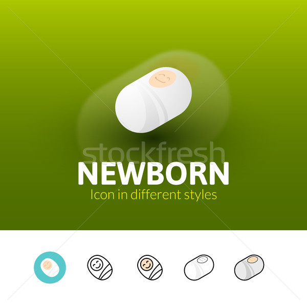 Newborn icon in different style Stock photo © sidmay