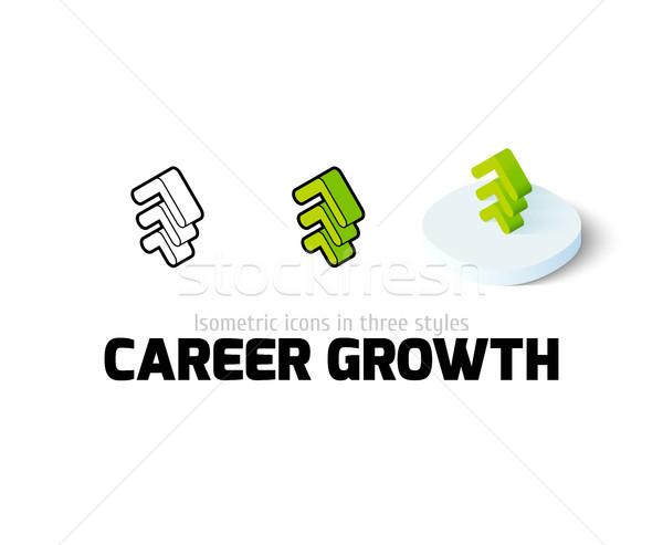 карьеру роста икона различный стиль вектора Сток-фото © sidmay