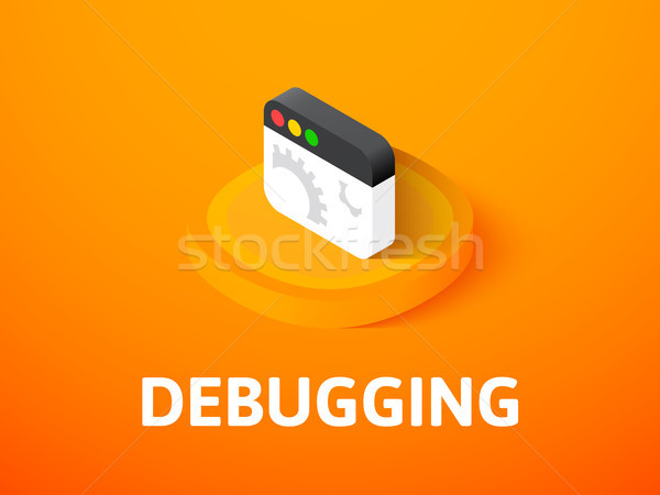 Debugging isometric icon, isolated on color background Stock photo © sidmay