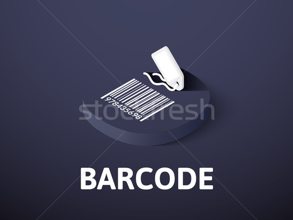 Barcode isometric icon, isolated on color background Stock photo © sidmay