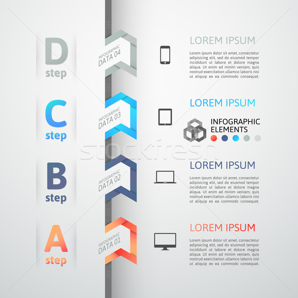 Modern business step origami style options banner Stock photo © sidmay