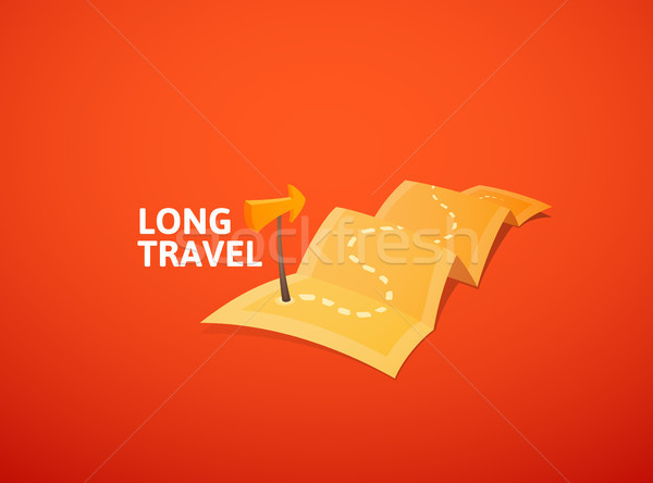 Мир тур логотип долго маршрут путешествия Сток-фото © sidmay
