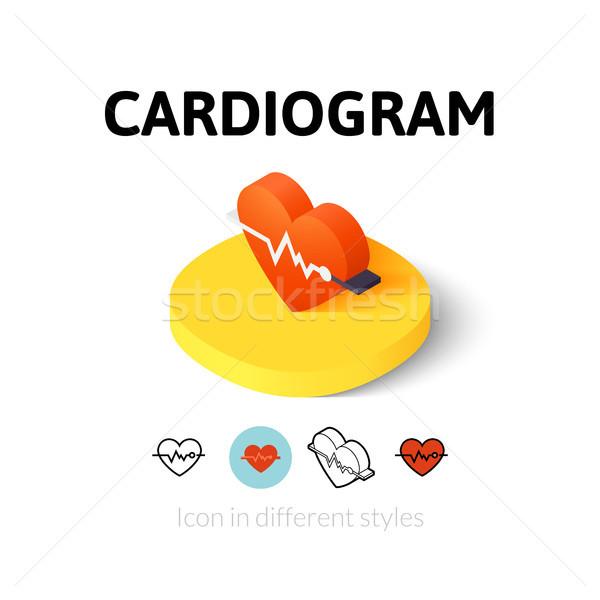 Kardiogram ikon különböző stílus vektor szimbólum Stock fotó © sidmay