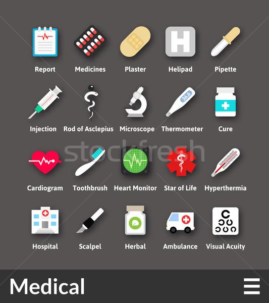 материальных дизайна медицинской коллекция здоровья Сток-фото © sidmay