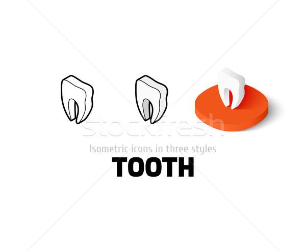 Tooth icon in different style Stock photo © sidmay