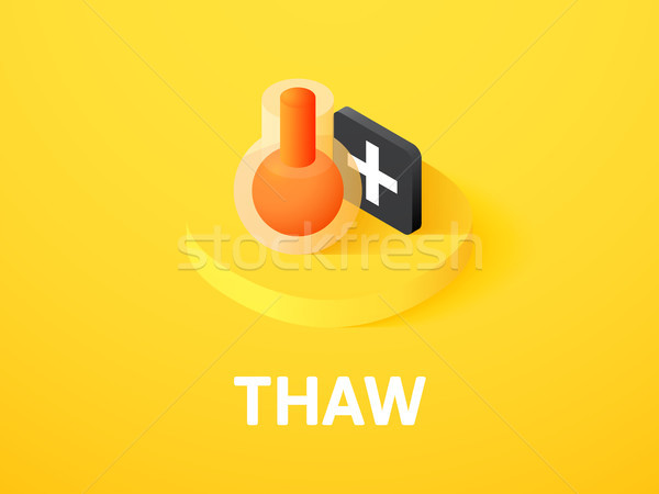 Thaw isometric icon, isolated on color background Stock photo © sidmay