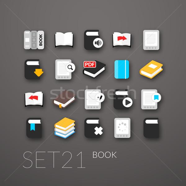 Flat icons set 21 Stock photo © sidmay